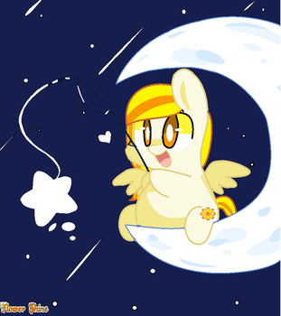 My oc in the moon by flowershine1705