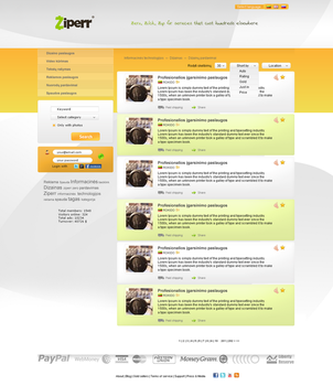 ziperr web design template by ROKIDO