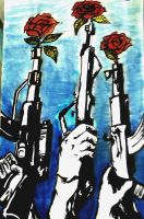 Guns and roses. by xHoldYourColour