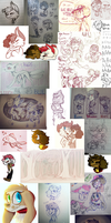 Instagram and PaigeeWorld DOODLE DUMP by NoasDraws