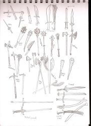 DF weapon sketches 1 by dragonsdale