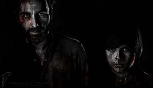 The Walking Dead cast: Rick/Carl by Little--Decoy