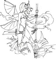 sexy female fairy drawing by electronicdave