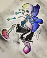 Undertale - Sans [WATERCOLOUR] by Phione538
