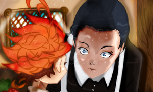 The Promised Neverland Emma MAMA Manga Colors HD by Amanomoon
