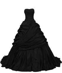 Black Ball Gown PNG by Vixen1978