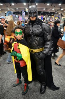 Batman and Son by FloresFabrications