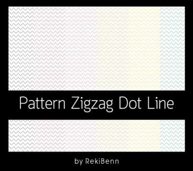 Pattern Zigzag Dot Line by TheSeekerReki
