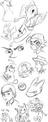 Sketch Page of Randomness... by tythecooldude06