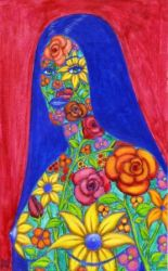 FLOWER GIRL 3 Original Contemporary Art PATTY by Sean-Patty