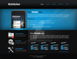 Mobile App Web Layout by hvdesignz