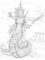 Naga Sorceress of the Depths by Captain-Jesse