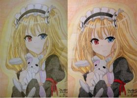 Kobato drawing comparision by Di5a5terp13ce