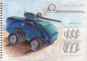 TESH-drive concept.Scetches for game-script by Dlordtesh