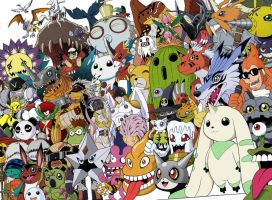 Digimon Collective by Zasshumon
