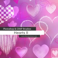Hearts II Photoshop and GIMP Brushes by redheadstock