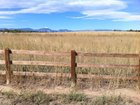 Fence and Mountains 3 by williamMalone