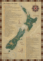 New Zealand film locations map - updated by Starsong-Studio