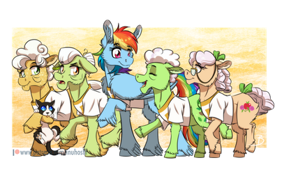 Just a Bunch of Gals by InuHoshi-to-DarkPen