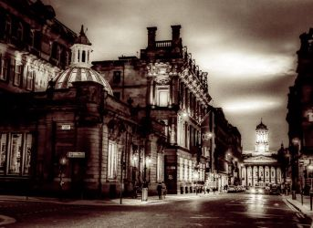 Glasgow Gallery of Modern Art from Ingram St. by SaraWolfPhotographer