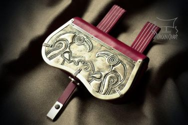 Anglo-Saxon pouch with ravens by Jorgen-Craft