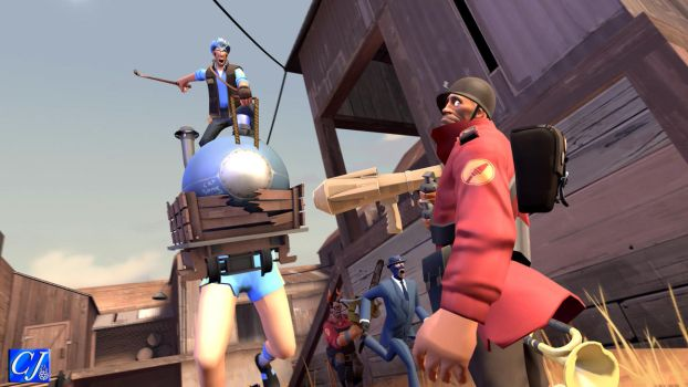 (Request) TF2: Sniper riding the payload by commanderjonas