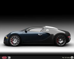 Veyron Side view by AfroAfroguy