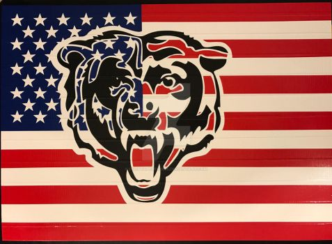 Chicago Bears Flag Duct Tape Art by DuctTapeDesigns