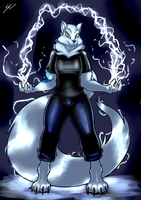 Commission - Arctic Lightning by grayscalerain