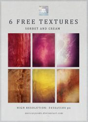 6 Free Textures: Sorbet and Cream by mercurycode
