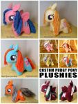 pudgey pony plushies 2013 by dizziness