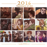 Summary of Art 2016 by spider999now