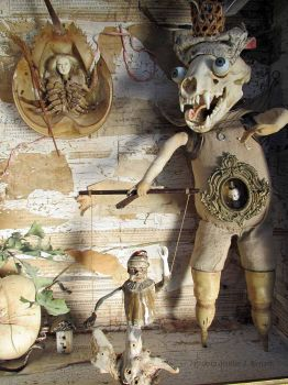 Assemblage: Puppet Master, detail 1 by bugatha1