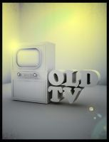 Old TV Set by Zickart