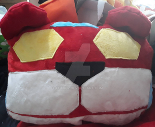 Voltron - Red Lion Pillow by fether