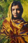She Is Malala Oil Painting by ArtforThoughtDOTorg