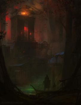 FIELD OF THORNS - RED WOODS by Caisne