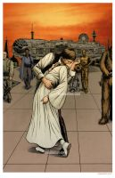 Han and Leia Kiss by nguy0699