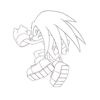 Knuckles Lineart by Hydro-King