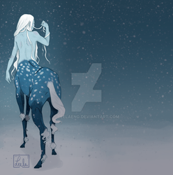 Centaur in the snow by LeelaEng