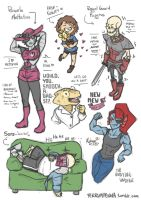 Undertale Characters by FerrumPenna