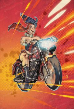 Harley-Riding-a-HarleyCOLORS by StephaneRoux