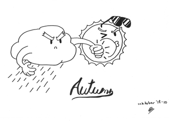 Inktober 2018 Day 10 - Autumn by molegato