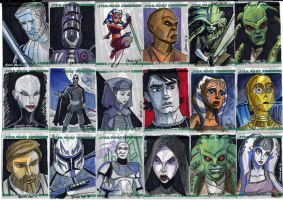 Clone Wars Sketch Cards 1 of 4 by Fierymonk