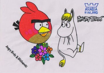 Angry Birds and Niiskuneiti by tatjuska