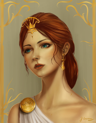 Greek goddess by huion