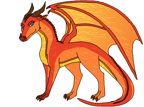 Wings of Fire: Peril The Dragoness on Fire by PandaFilmsG