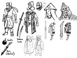 Ninja Game Initial Sketch by KidneyShake