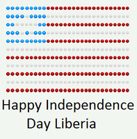 Happy Independence Day Libeia by DarkVampirequeen9