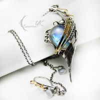 MANTIARH -silver , gold , moonstone. by LUNARIEEN